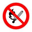 schild feuer verboten