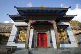 Buddist monastery, annapurna, nepal poster