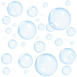 Blue bubbles background