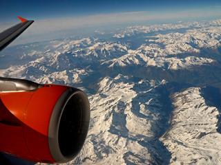 l'avion et les Alpes