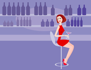 woman in bar