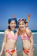 Snorkeling twins