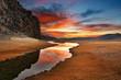 Leinwanddruck Bild - Daybreak in mongolian desert