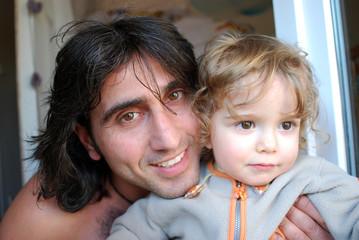 papa avec son fils