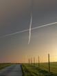 Leinwandbild Motiv Kreuz am Himmel
