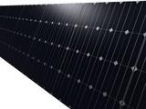 wand aus solar platten poster