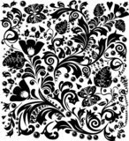 complicated black decoration poster