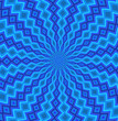 Blue flower pattern with movement built in