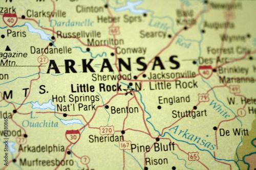 Map of Little Rock Arkansas | Buy Photos | AP Images | DetailView