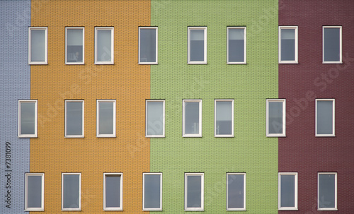 Multi colored apartments 5