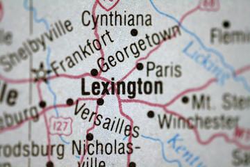 Map of Lexington Kentucky