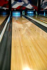 A bowling alley lane