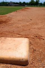 Baseball base on infield diamond