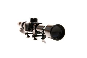 rifle gun scope on white