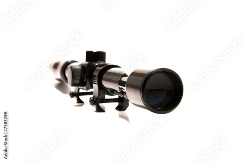 rifle gun scope on white