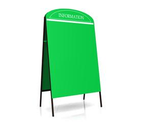 Green billboard