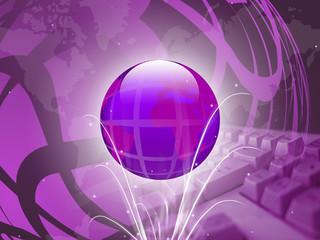 Technology Background Violet
