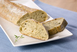 oven baked bread with thyme poster