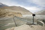 steel suspension bridge, mustang, annapurna, nepal poster