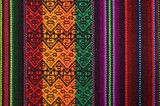 Traditional andean tapestry from northern Argentina and Bolivia. poster