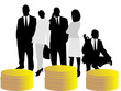 Vector of business people