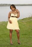 African girl modeling poster