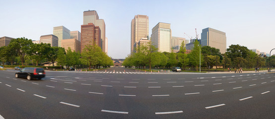 Toyko cityscape from the imperial palace