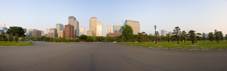 Tokyo cityscape from the imperial palace