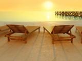 Fototapety Tramonto in spiaggia