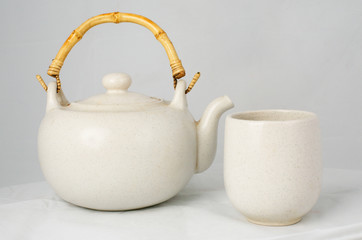Chine tea pot and cup