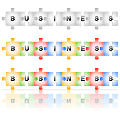 Puzzle BUSINESS avec et sans reflet