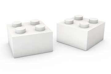Building Block on White