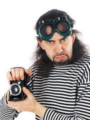 funny man with camera