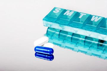 Pills and reminder box