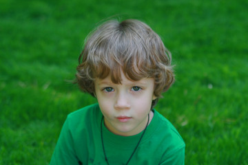 Boy in the grass