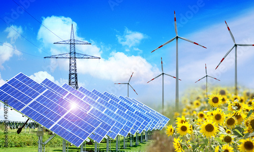 Leinwanddruck Bild Erneuerbare Energien 3