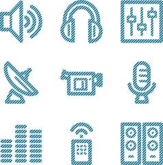 Blue line media contour icons V2
