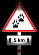 animal track sign