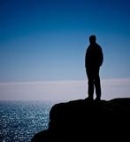 seul mer solitude nature randonnée marche découverte équilibre poster