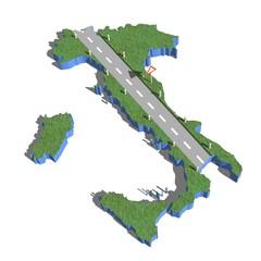 strade d'italia vista aerea