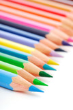 Palette of the variegated  pencils poster