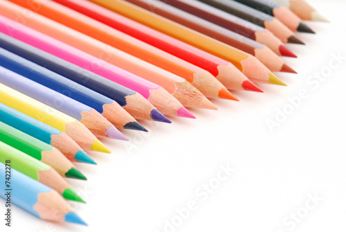 Beautiful composition of colored pencils