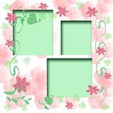 floral scrapbook frame poster