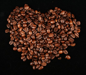 Coffee granules with shape of