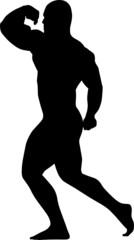 vector silhouette of sport men
