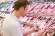 Man buying fresh meat