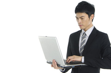 Business Man use computer