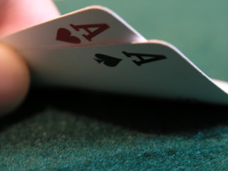 Double ace poker hand