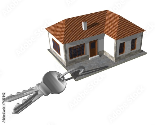 Casa chiavi in mano di piumadaquila foto stock royalty - Casa chiavi in mano ...