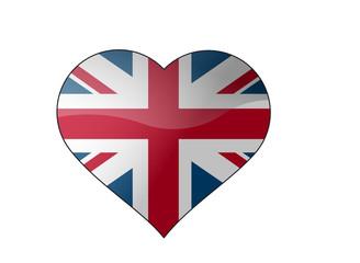 Herz-Flagge UK